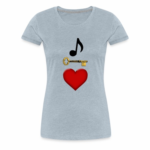 Music is Key to My Heart - Women's Premium T-Shirt