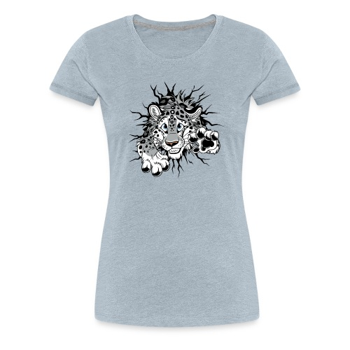 STUCK Snow Leopard (double-sided) - Women's Premium T-Shirt