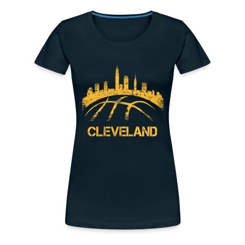 Cleveland Basketball Skyline - Women's Premium T-Shirt