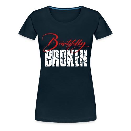 Beautifully Broken red white - Women's Premium T-Shirt