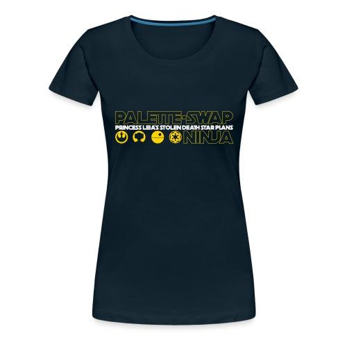 Princess Leia's Stolen Death Star Plans - Women's Premium T-Shirt