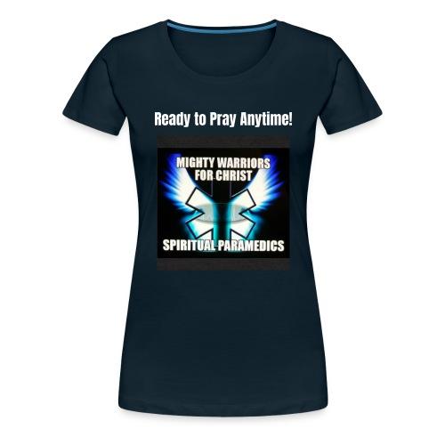 MightyWarrior PrayAnytime White - Women's Premium T-Shirt