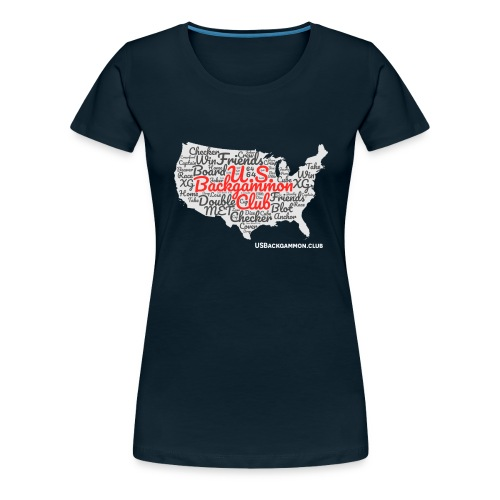 US Backgammon Club - Women's Premium T-Shirt