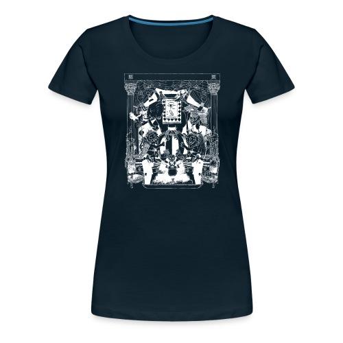 black chai tee white - Women's Premium T-Shirt
