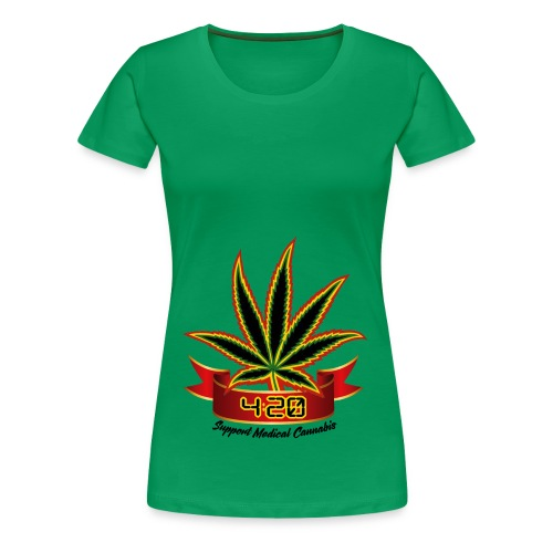 support_medical_cannabis_420 - Women's Premium T-Shirt