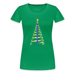Christmas Tree Back The Blue - Women's Premium T-Shirt