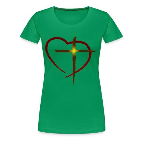 Heart and Cross - Women's Premium T-Shirt