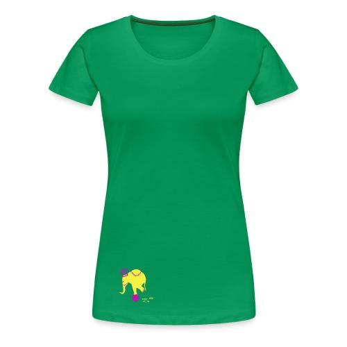 Playful Elephant - Women's Premium T-Shirt