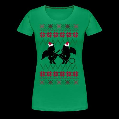 Gastric Girls Gab Ugly X-Mas Sweater - Women's Premium T-Shirt