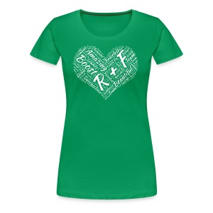 R+F White Heart - Women's Premium T-Shirt