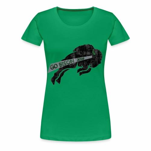 Go Bison logo - Women's Premium T-Shirt