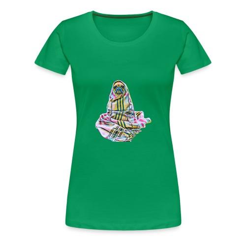 Pug in a blanket - Women's Premium T-Shirt