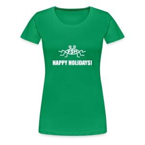Happy Holidays (Flying Spaghetti Monster) - Women's Premium T-Shirt