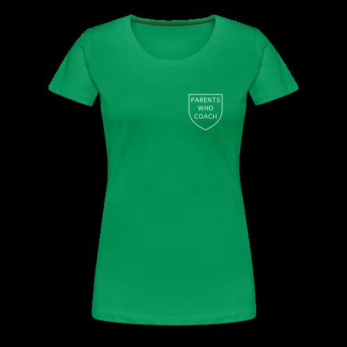 Parents Who Coach crest on chest - Women's Premium T-Shirt