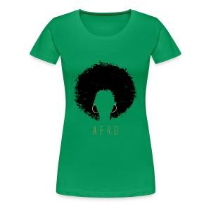 Black Afro American Latina Natural Hair - Women's Premium T-Shirt