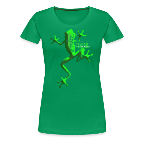 lighter w/white font - Women's Premium T-Shirt