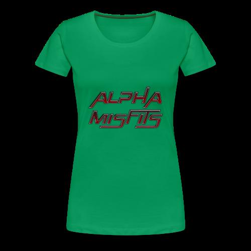 Alphamisfits Name Logo - Women's Premium T-Shirt