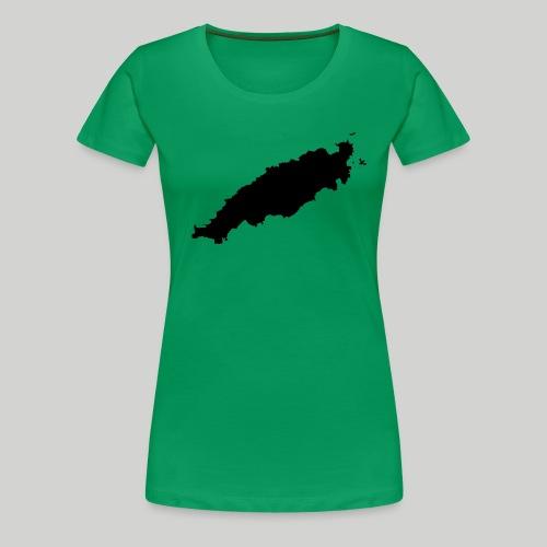 Tobago in Silhouette - Women's Premium T-Shirt