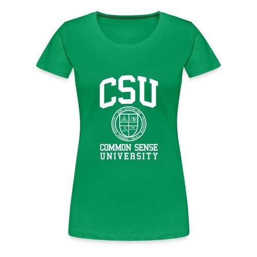 Common Sense Black T-Shirts - Women's Premium T-Shirt