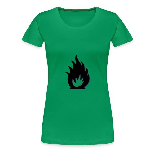 cute fire symbol - Women's Premium T-Shirt