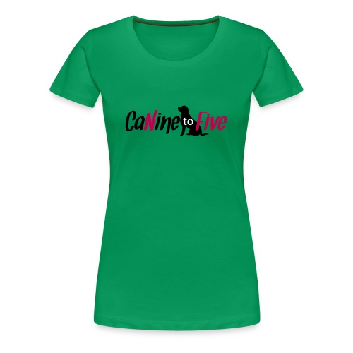 CaNine to Five Logo - Women's Premium T-Shirt
