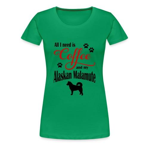 Alaskan Malamute Coffee - Women's Premium T-Shirt