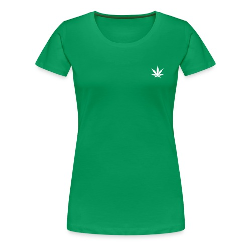 Cannabis Leaf Small Marijuana Logo - Women's Premium T-Shirt