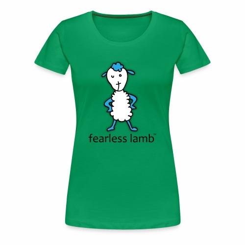 fearless lamb logo (Jesus) - Women's Premium T-Shirt
