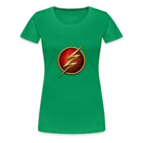 the_flash_logo_by_tremretr-d8uy5gu - Women's Premium T-Shirt