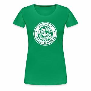 Hawaii Irish Dance Logo Distressed - Women's Premium T-Shirt
