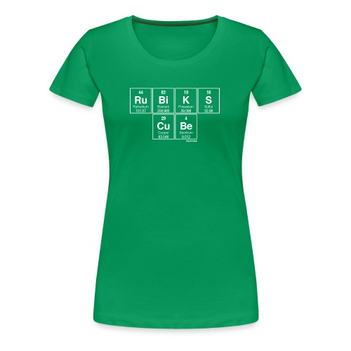 Periodic Table of the Cube - Women's Premium T-Shirt