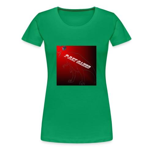 T-REX GAMER LOGO - Women's Premium T-Shirt
