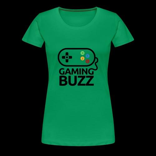 Gaming Buzz Logo - Black - Women's Premium T-Shirt