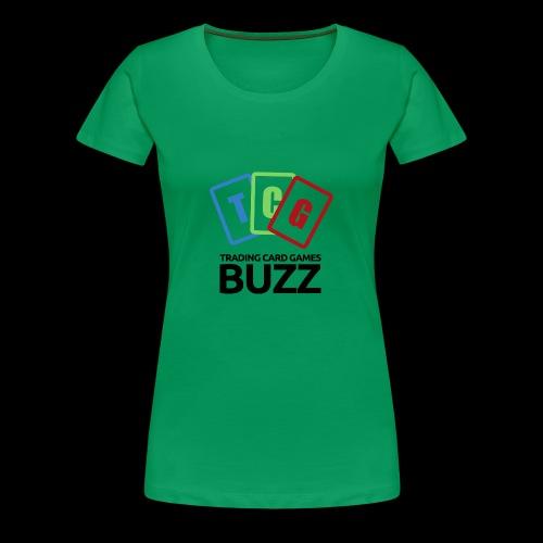 TCG Buzz Logo - Black - Women's Premium T-Shirt