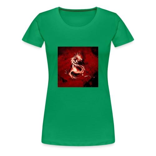Blood Red Dragon ipad wallpaper - Women's Premium T-Shirt