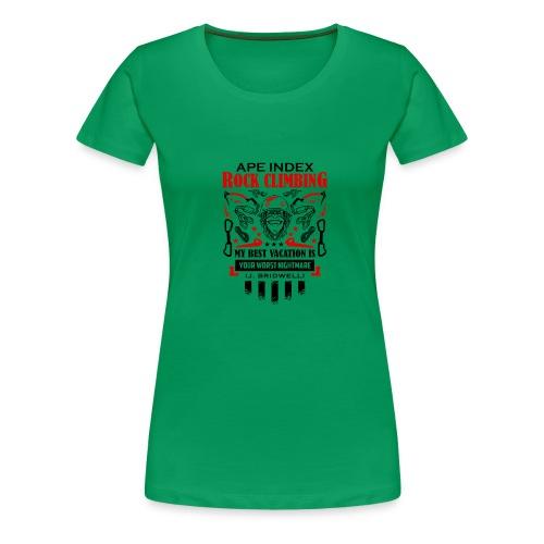 ApeIndex RockClimbing Black Red - Women's Premium T-Shirt