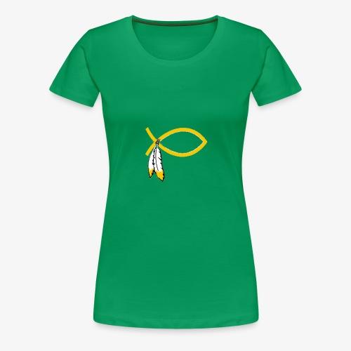 Jesus Fish (WAS) - Women's Premium T-Shirt