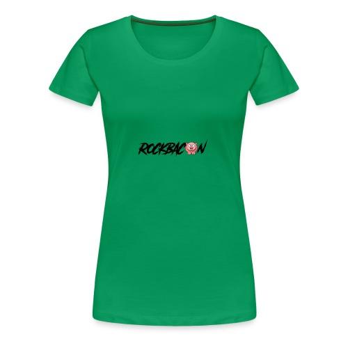 RockBacon with pig - Women's Premium T-Shirt