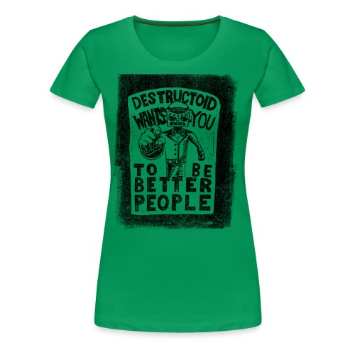 Destructoid Wants You - Women's Premium T-Shirt