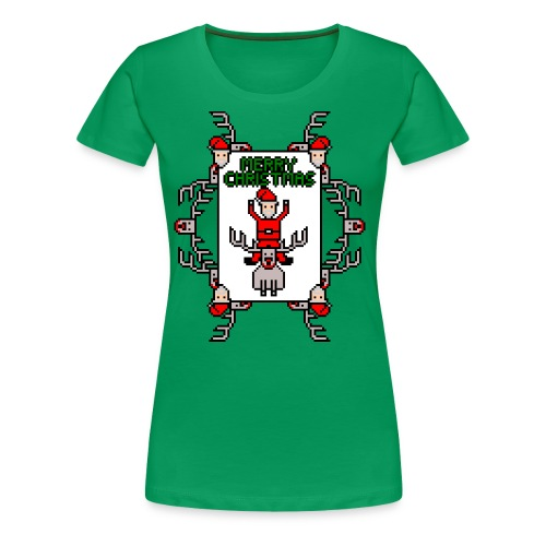 Merry Christmas Santa and Rudolph - Women's Premium T-Shirt
