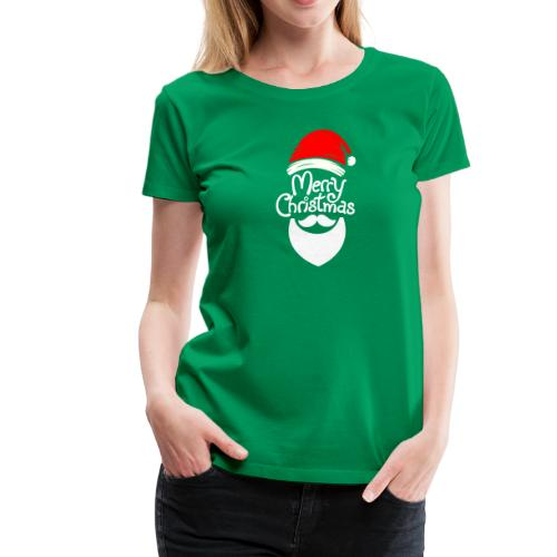 Merry Christmas Santa hat - Women's Premium T-Shirt