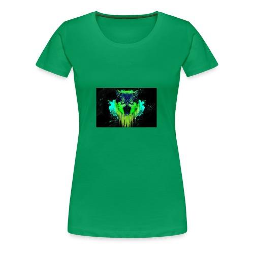 Neon Wolf - Women's Premium T-Shirt