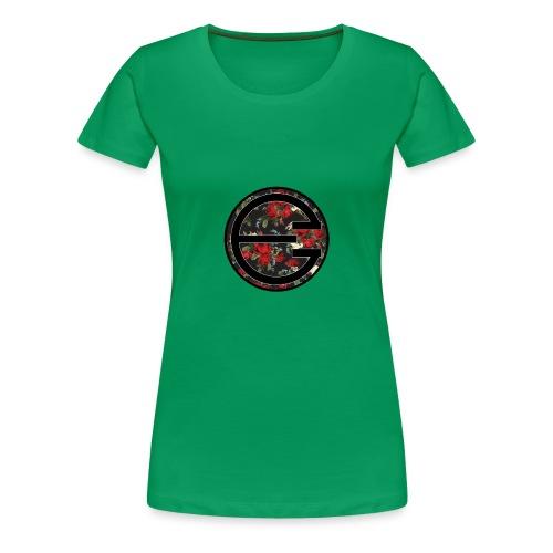 EYELESS 2D FLORAL CIRCLE PHONE CASE. - Women's Premium T-Shirt