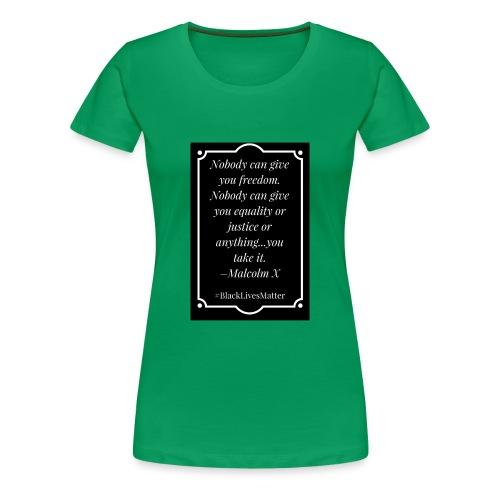 Black Lives Matter Malcolm X - Women's Premium T-Shirt