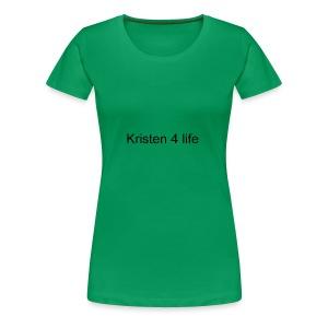 Kristen 4 life channel complete signature T-shirt - Women's Premium T-Shirt