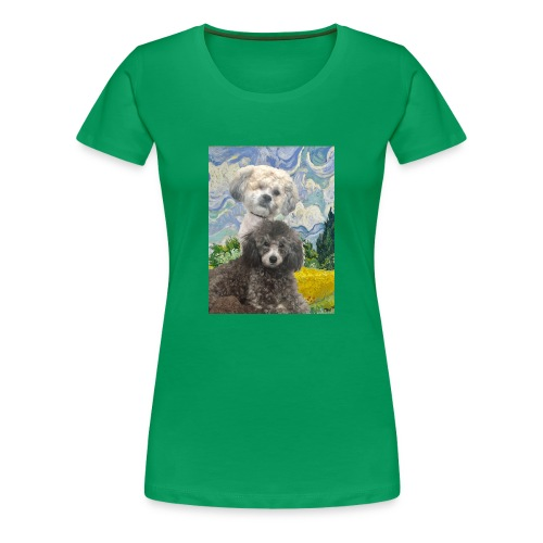 Morty and Wonton - Dogs of Modern Art - Women's Premium T-Shirt