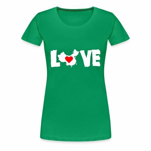 Love China White - Women's Premium T-Shirt