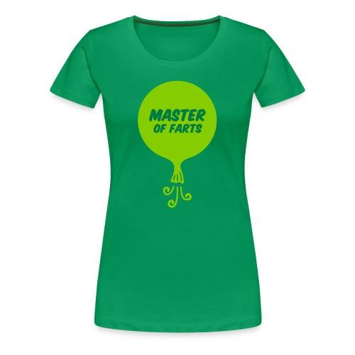 Master of Farts (2 color) - Women's Premium T-Shirt