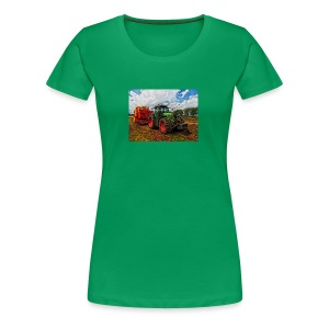 Tractor on a farm! - Women's Premium T-Shirt