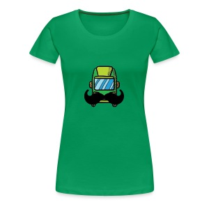 Hip Camper or Van with a Mustache - Women's Premium T-Shirt